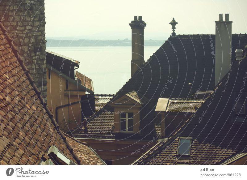 Aus Meiner Festung Stadt alt Sommer Landschaft Haus Fenster Umwelt Wand Architektur Gebäude Mauer See Fassade Schönes Wetter Dach historisch