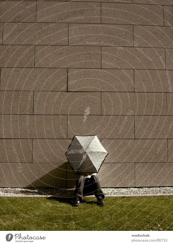 SONNENSCHUTZ Mensch Natur Mann alt grün Sommer Hand Wärme Wand Wiese Gras Hintergrundbild Mauer Spielen Lifestyle grau
