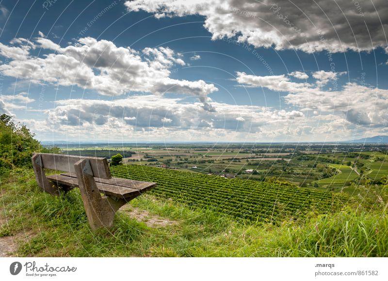 Kaiserbank Tourismus Ausflug wandern Umwelt Natur Landschaft Himmel Wolken Horizont Sommer Schönes Wetter Pflanze Feld Weinbau Bank Erholung genießen schön
