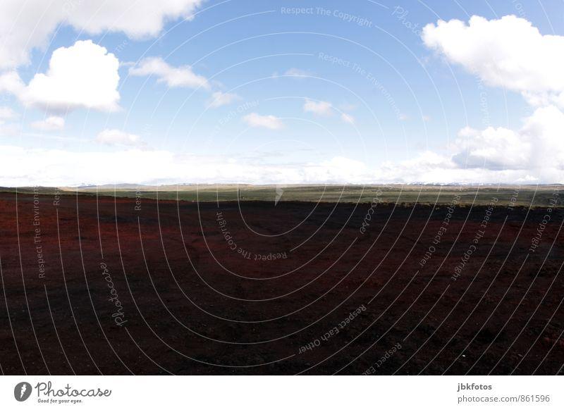 ISLAND / Vulkangestein Umwelt Natur Landschaft Pflanze Urelemente Sand Horizont Sommer Klima Kraft Umweltschutz rot Staub Wüste Lava vulkangestein roter sand