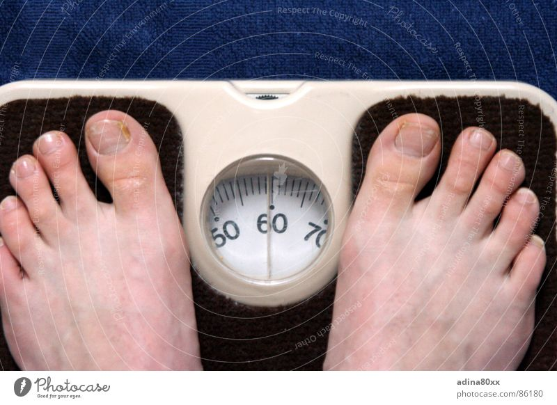 Das Leben ist schön Freude Ernährung Fuß Gesundheit Trauer Verzweiflung Diät 50 Waage ungesund wiegen Kilogramm
