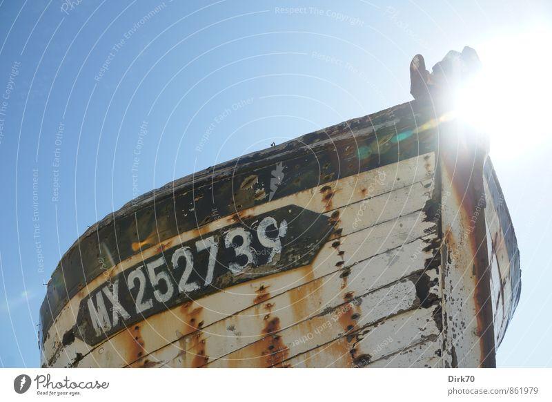 Nimmermehr zur See Fischereiwirtschaft Wolkenloser Himmel Sonne Sonnenlicht Sommer Schönes Wetter Meer Ärmelkanal Atlantik Schifffahrt Fischerboot Segelboot