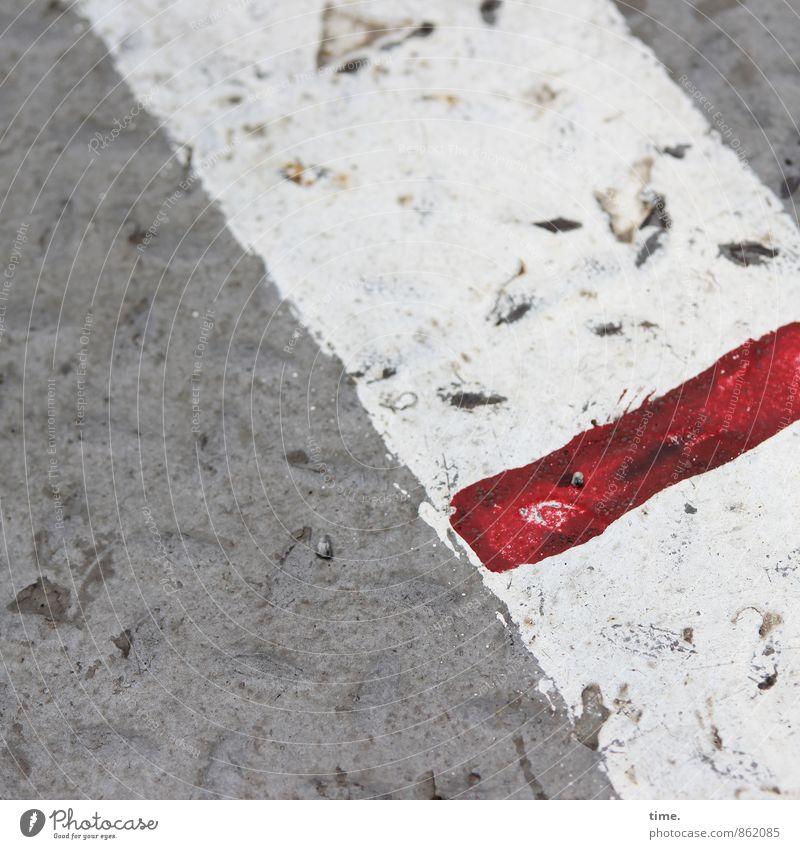 !Trash! | Red Line (short version) Wege & Pfade Linie Metall Ordnung dreckig kaputt Schutz Zeichen Güterverkehr & Logistik Sicherheit Konzentration Schifffahrt