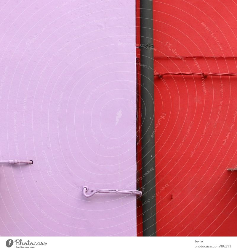 Farbkomposition Haus Farbe Wand Fassade Anstrich Farbklang Burano