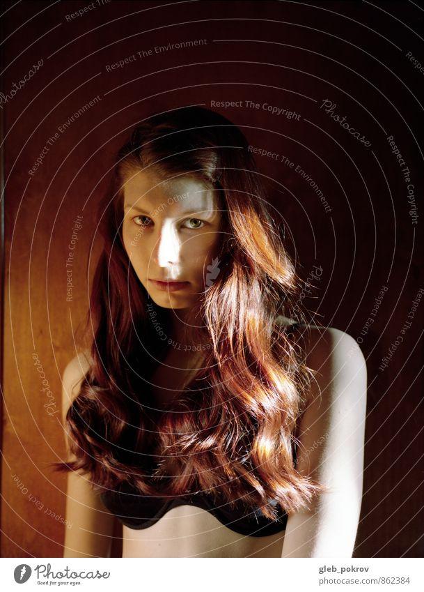 Dokument #Porträt elegant Stil Haare & Frisuren Haut feminin Junge Frau Jugendliche Gesicht Brust Frauenbrust 1 Mensch 18-30 Jahre Erwachsene Unterwäsche