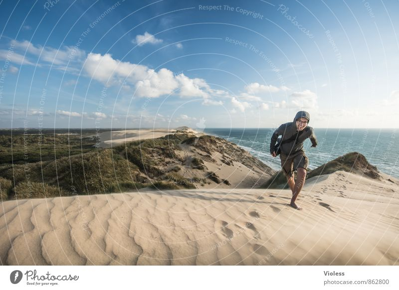dune runner ... Natur Ferien & Urlaub & Reisen Sommer Sonne Meer Landschaft Strand Ferne Küste außergewöhnlich Sand laufen Ausflug fantastisch Schönes Wetter Urelemente
