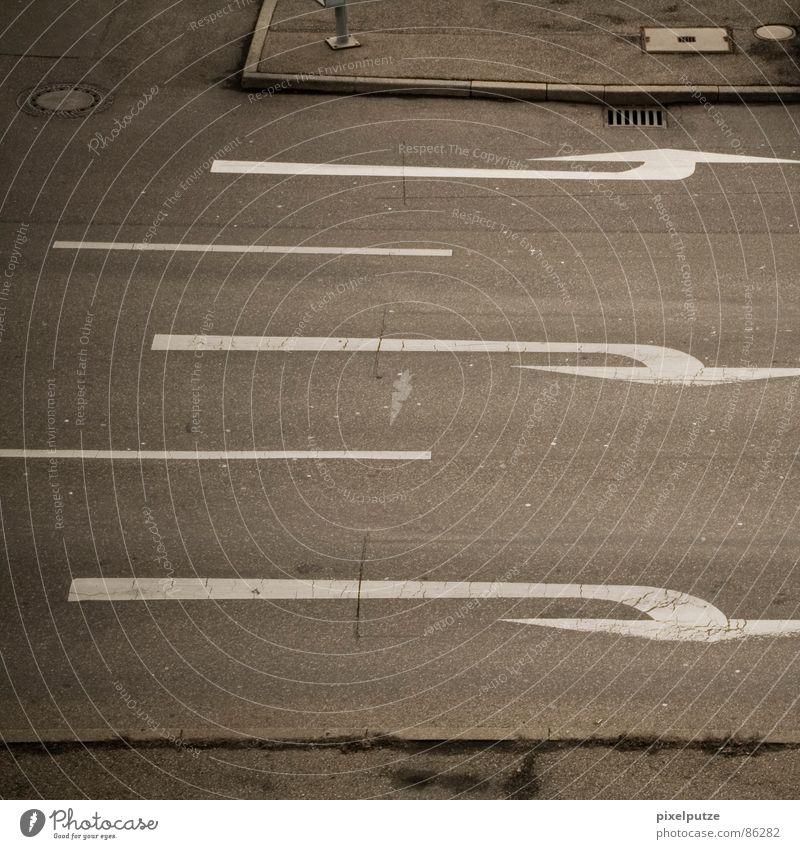 von hier nach da oben Wege & Pfade Linie Straßenverkehr Verkehr Ziel System Asphalt Spuren Pfeil Quadrat unten Richtung Bürgersteig Symbole & Metaphern