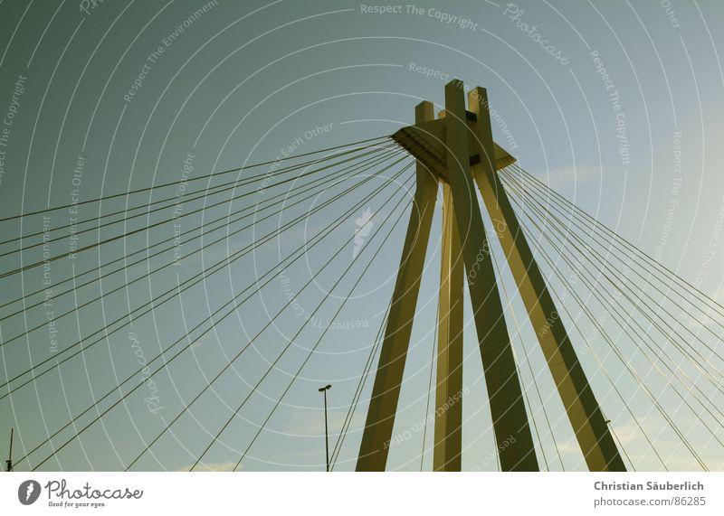 Pylonen Brücke Himmel Brücke Pylon Ludwigshafen Golden Gate Bridge