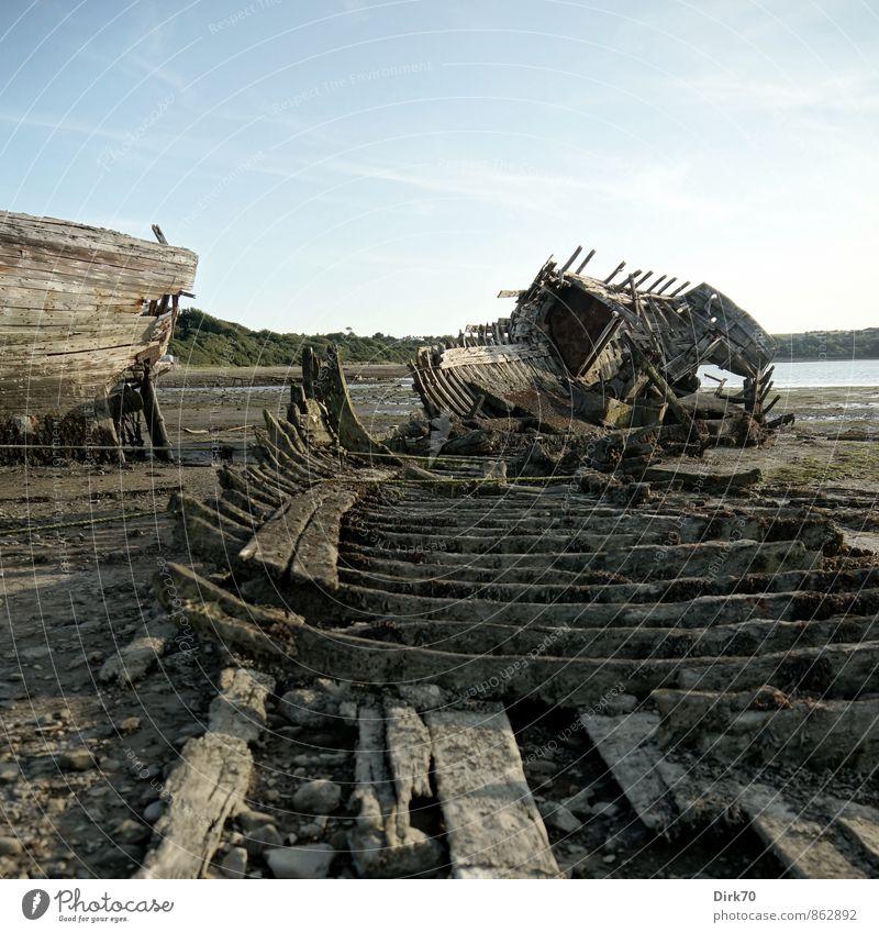 """""""Shipwreck Cove, on Shipwreck Island, ..."""" Sommer Schönes Wetter Algen Küste Bucht Meer Atlantik Schlick Fischerdorf Schiffsfriedhof Schifffahrt Fischerboot"""