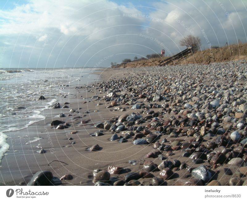 Sandstrand Meer Strand Ebbe Stein dlrg stones ocean low tide ebb