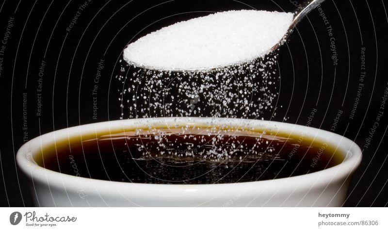 Kaffeepause Motivation Süßstoff Zucker Tasse Pause entladen Getränk Café Koffein trinken Erfrischung Dorf süß Flüssigkeit braun schwarz lecker geschmackvoll