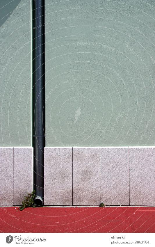 Rohr Haus Gebäude Architektur Mauer Wand Fassade Regenrohr Fallrohr Sauberkeit Farbfoto mehrfarbig Außenaufnahme Muster Strukturen & Formen Textfreiraum rechts