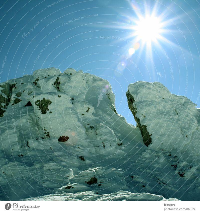 himmel auf erden glänzend Winter Berge u. Gebirge Schnee Sonne Himmel snow heaven mountains sun Niveau