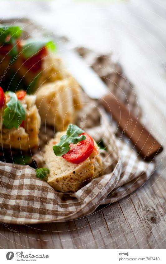 Pizzabrot frisch Ernährung lecker Brot Picknick Brötchen Vegetarische Ernährung Büffet Brunch Fingerfood