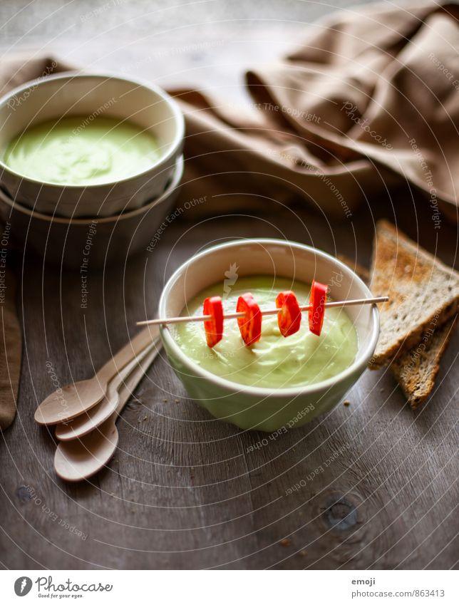 Avocado grün Gesundheit frisch Ernährung Gemüse lecker Bioprodukte Diät Vegetarische Ernährung Suppe Eintopf