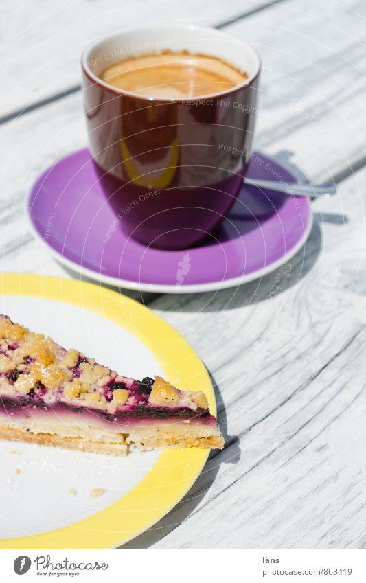 Kaffee und mehr Ferien & Urlaub & Reisen Sonne ruhig Zufriedenheit Tourismus Ausflug Lebensfreude trinken Wohlgefühl Geschirr Restaurant Kuchen Tasse Teller