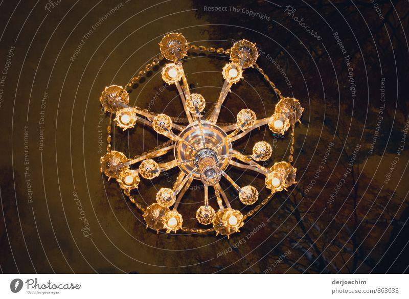 Licht an alt schön Freude gelb Gebäude außergewöhnlich Lampe hell Metall Deutschland elegant Design leuchten gold Glas ästhetisch