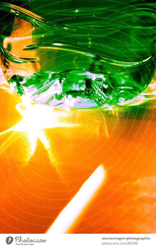 sonne grün Makroaufnahme Farbe Sonne orange Surrealismus Strukturen & Formen Wasser
