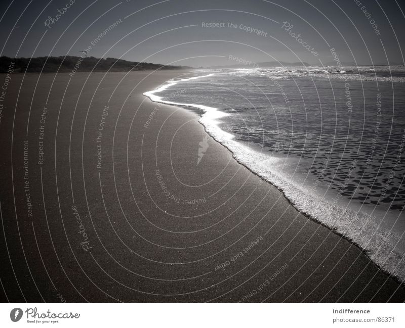 for a better tomorrow Wasser Himmel Meer Strand Sand Italien Sepia