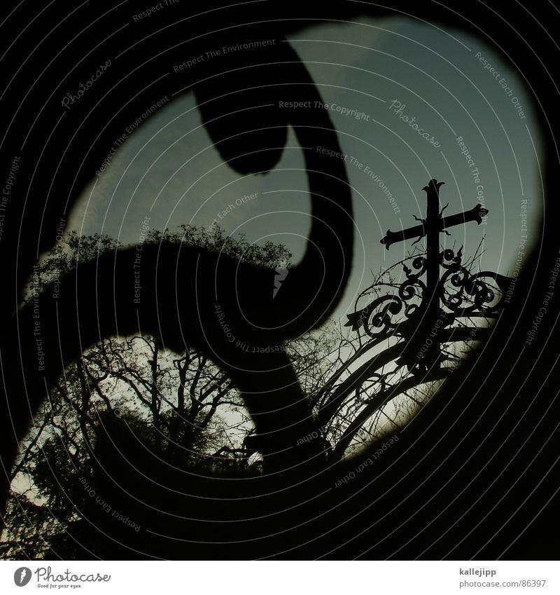 † Grab Christentum Judentum Friedhof Religion & Glaube Maria Kranz Gußeisen Eisen Ornament Götter Pankow Beerdigung Sarg Geisterstunde untot Vergangenheit