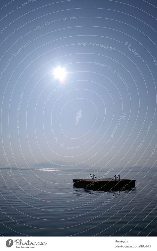 Rettungsinsel See Meer Trauer Wasser Verzweiflung Insel Sonne Freiheit kleine insel mehrfarbig