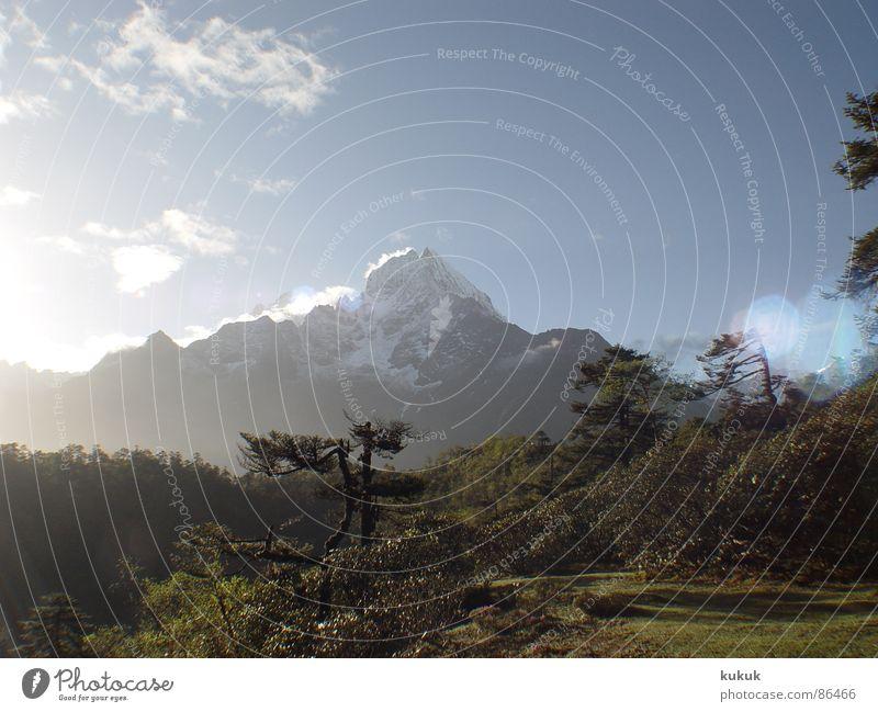 6 Uhr morgens !! Natur Ferien & Urlaub & Reisen Erholung Berge u. Gebirge Asien anstrengen Nepal