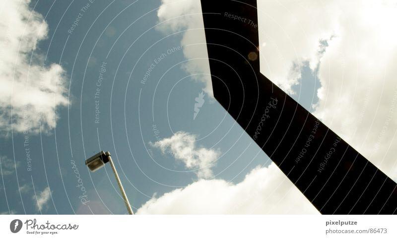 skylove Beleuchtung geschmückt Himmel Horizont Luft Kruzifix dunkel Dinge graphisch Flugzeug Gegenlicht Symbole & Metaphern schlechtes Wetter Wetterdienst