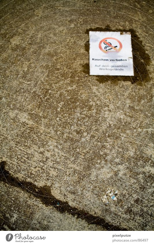 feuchte träume gelb Wärme Gesundheit liegen Schilder & Markierungen nass Bodenbelag Hinweisschild Kommunizieren Rauchen Industriefotografie Asphalt Fabrik