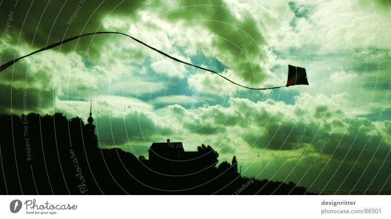 Drachmatik Himmel Wolken Herbst Wind fliegen Luftverkehr fallen Sturm Drache steigen Kiting