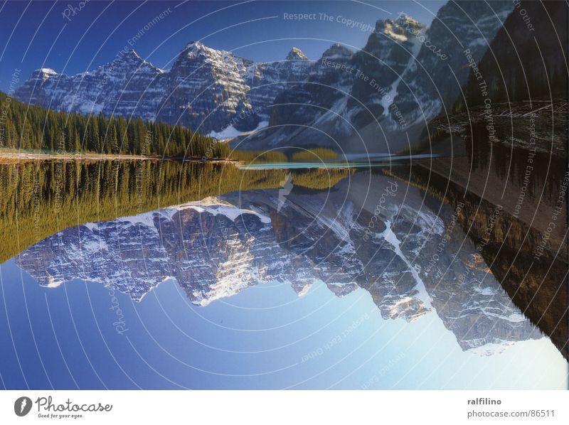 Idyllische Ruhe Sommer ruhig Berge u. Gebirge See Landschaft fantastisch Kanada Nationalpark