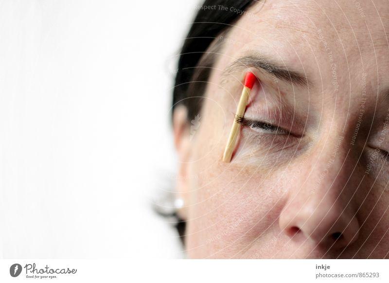 Montagmorgen Mensch Frau Erwachsene Gesicht Auge Leben Gefühle lustig Stimmung warten schlafen Pause Wachsamkeit Müdigkeit machen Langeweile
