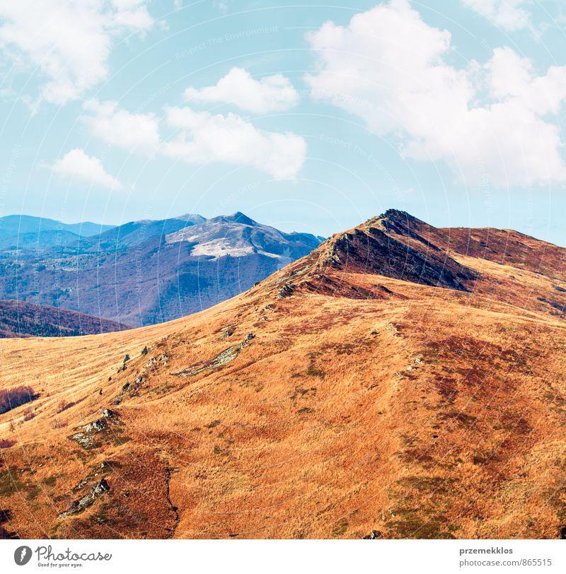 Himmel Natur blau schön Farbe rot Landschaft Wolken Berge u. Gebirge Wiese Herbst Gras Freiheit Park Wetter wandern