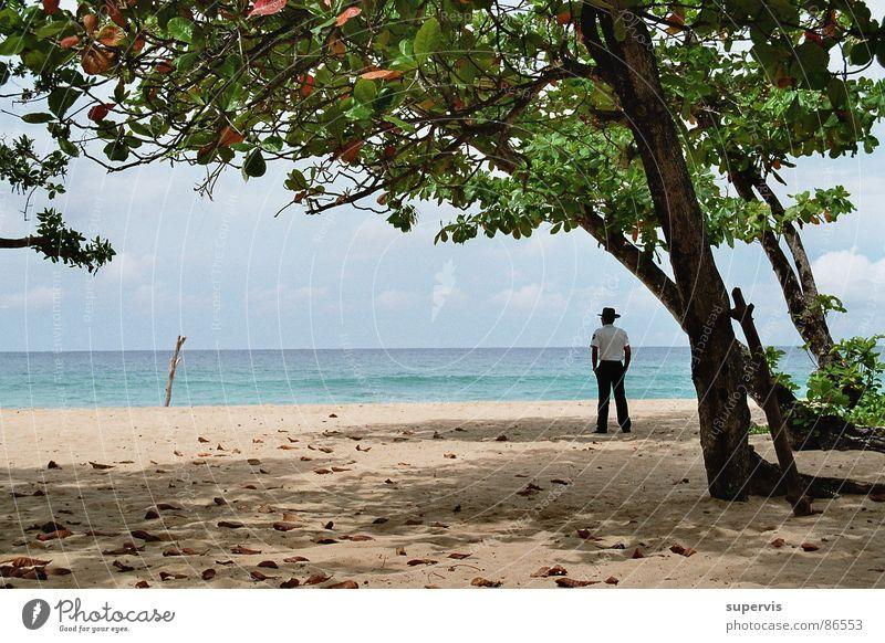 Melde, alles ruhig! Strand Küste Sicherheit Wachsamkeit Kontrolle Dienst Sicherheitsdienst Nationale Sicherheit Wachdienst