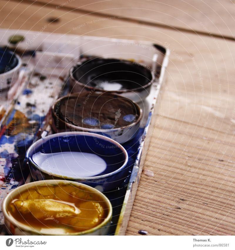 Evolving Purpose Farbe Gefühle Holz Stil Kunst Linie Seil Tisch Kreativität Gemälde zeichnen Gesichtsausdruck Erdöl Pinsel Seele Gefäße