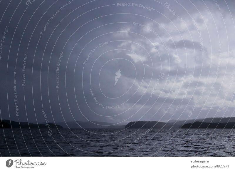 Dalsland #2 Abenteuer Ferne Sommerurlaub Insel Wassersport Landschaft Luft Himmel Wolken Gewitterwolken Klima Klimawandel Wetter schlechtes Wetter Unwetter