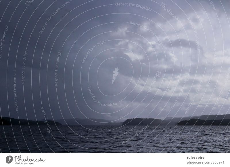 Dalsland #2 Himmel Wasser Landschaft Wolken Ferne Wald kalt Küste See Horizont Luft Wetter Regen Angst Klima gefährlich