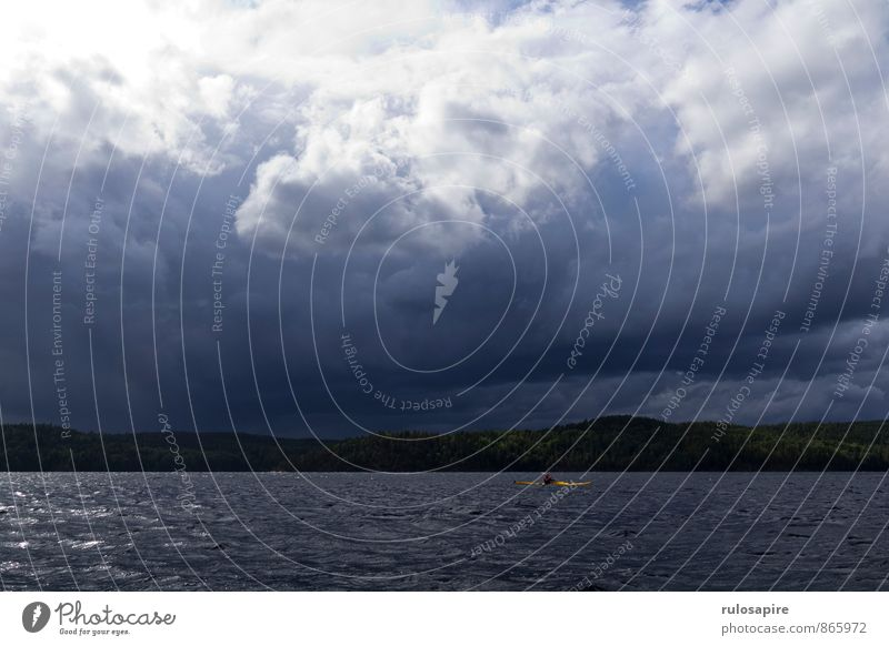 Dalsland #1 Kanu Kajak Kanusport Tourismus Abenteuer Expedition Sommer Sommerurlaub Schweden Sport Wassersport Mensch Natur Landschaft Himmel Wolken