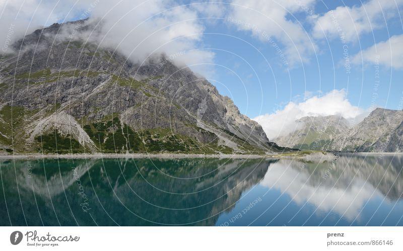 Bergsee Umwelt Natur Landschaft Schönes Wetter Alpen Berge u. Gebirge Gipfel See blau grau Reflexion & Spiegelung Himmel Wolken Österreich Farbfoto