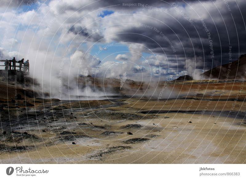 ISLAND / Námafjall - mud pots Energiewirtschaft Erneuerbare Energie Umwelt Natur Landschaft Pflanze Urelemente Erde Sand Feuer Wasser Himmel Wolken Sommer