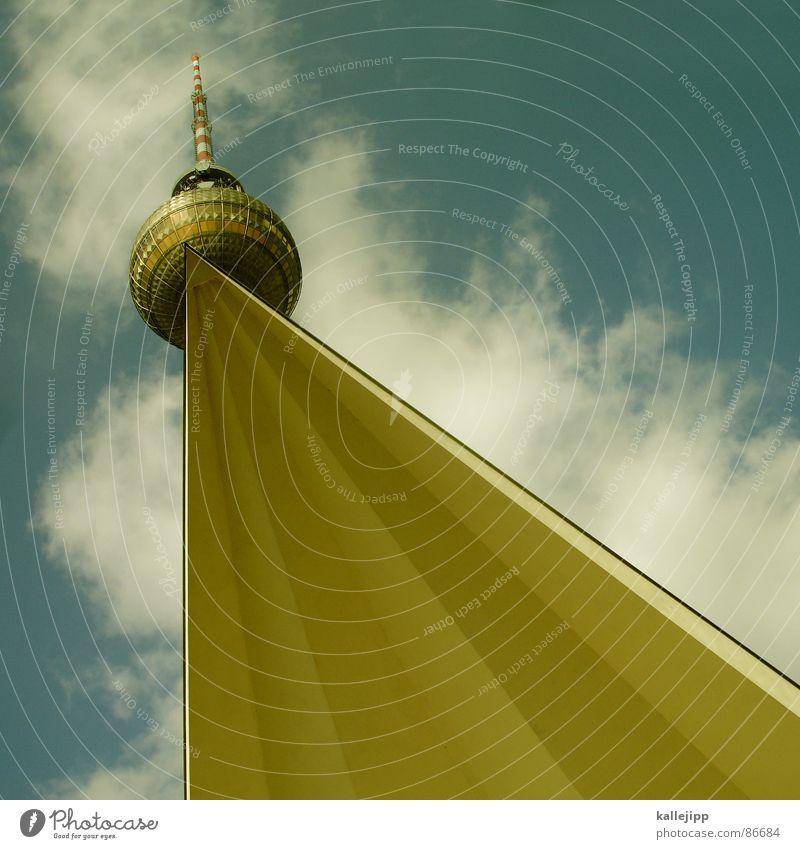 berliner chique II Himmel Berlin Haare & Frisuren Kunst hoch Feder Turm Niveau Brunnen Mitte Kugel Denkmal Statue Wahrzeichen DDR Sehenswürdigkeit