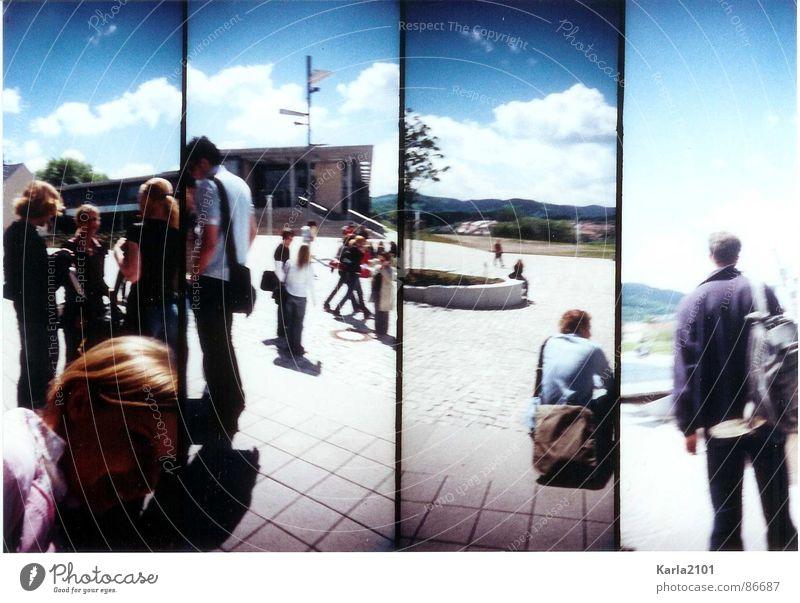 Studentenleben Ilmenau Sommer Pause Freizeit & Hobby Mittagspause Mensch Audimax-Gebäude tolles Wetter Sonne genießen Freude warme jahreszeit