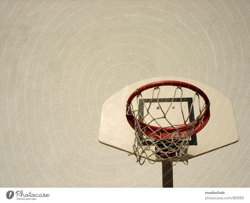 EINLADUNG ZUM KORB Hand Sommer Freude Sport Spielen lustig Netz Freizeit & Hobby Sportveranstaltung Surrealismus Korb Basketball Saison toben transpirieren
