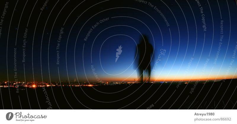 Places & Spaces Nacht Abend Planet Morgen Sonnenaufgang Himmel Himmelskörper & Weltall verdunkeln abstrakt fantastisch Koloss Stadt Langzeitbelichtung