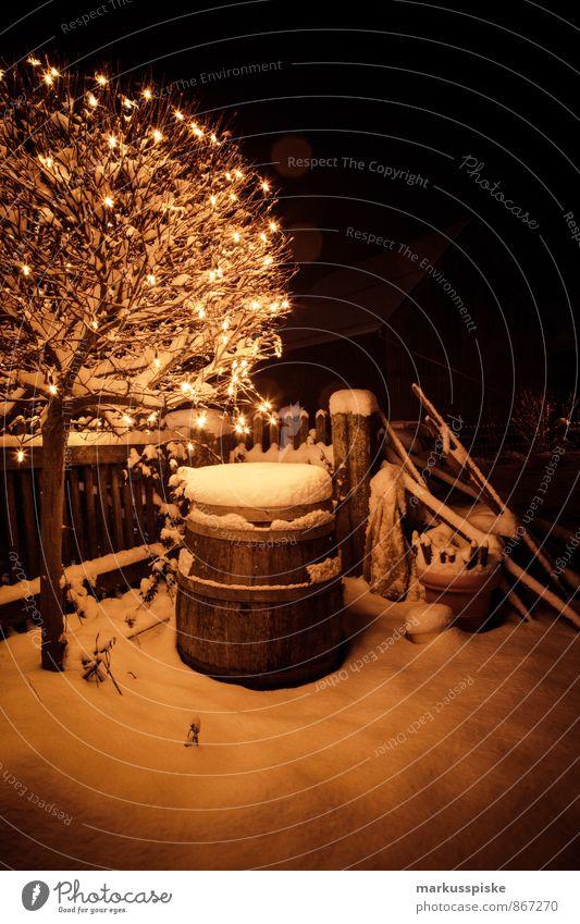 weihnachtslichter Stil Häusliches Leben Wohnung Garten Haus Fass Lichterkette Beleuchtung Stern (Symbol) Weihnachten & Advent Weihnachtsbaum Weihnachtsstern