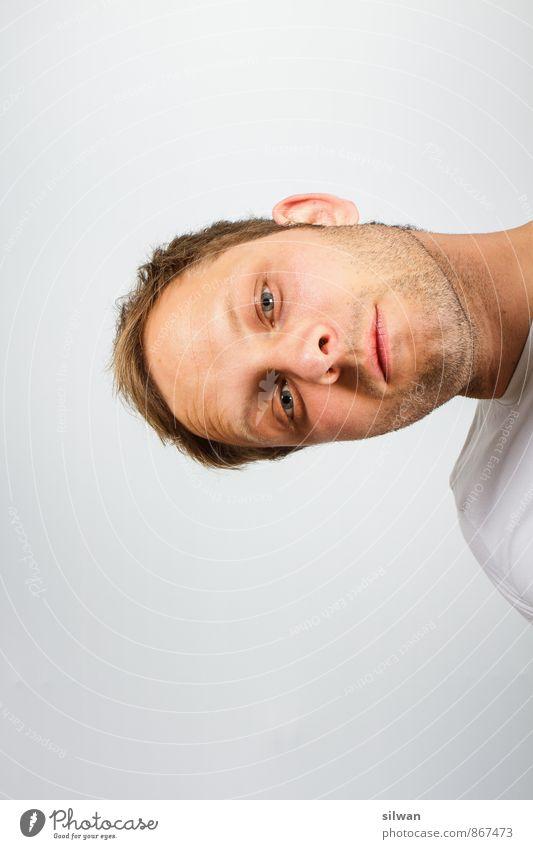Lightcheck 1-2, 1-2 Mensch Jugendliche schön weiß 18-30 Jahre Erwachsene Gesicht grau Kopf Arbeit & Erwerbstätigkeit maskulin blond verrückt Beginn Sauberkeit