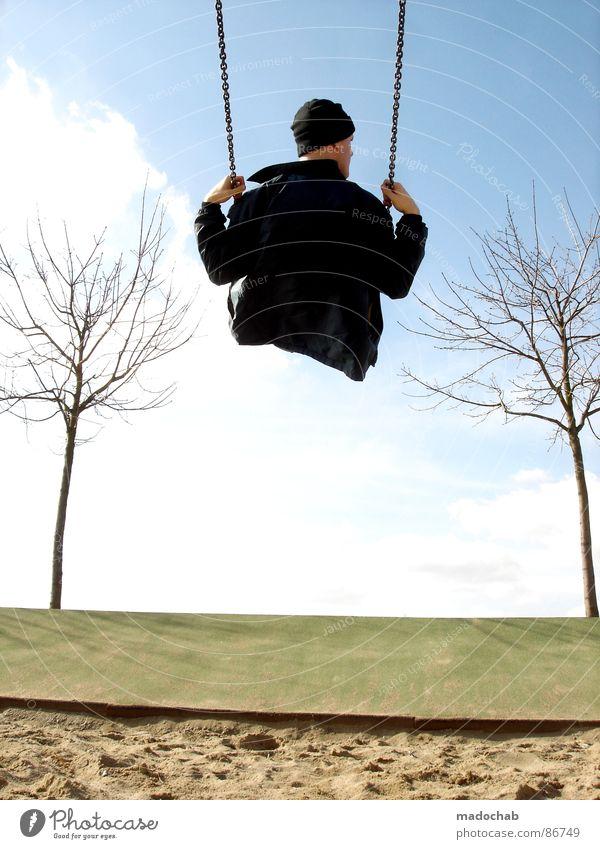 BRING MICH ZURÜCK Mensch Himmel Freude Wolken Einsamkeit Spielen Arbeit & Erwerbstätigkeit sitzen maskulin Flügel einzigartig fahren einzeln Spielzeug Mütze genießen