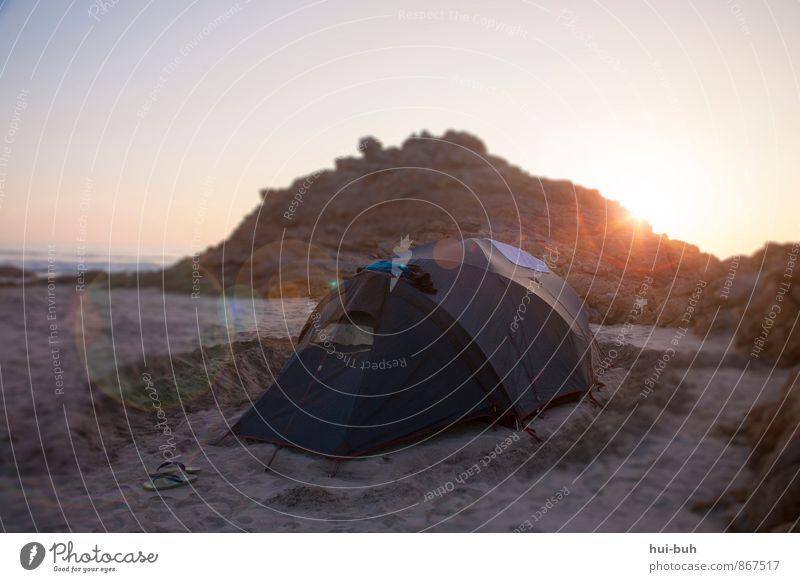 Sonne-n-licht Ferien & Urlaub & Reisen Tourismus Abenteuer Ferne Freiheit Camping Sommer Sommerurlaub Strand Meer Insel Natur Sand Horizont Hügel Felsen Küste