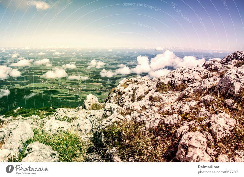 Staufen Ausblick Himmel Natur Sommer Landschaft Wolken Ferne Umwelt Berge u. Gebirge Sport Freiheit Horizont Luft Freizeit & Hobby Erde wandern hoch