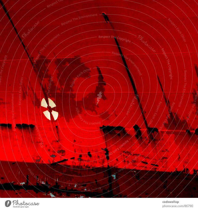 flower power rot Wasserfahrzeug Industrie Hafen Schifffahrt Logo Propeller Rust Schiffsschraube gekratzt Wasserlinie