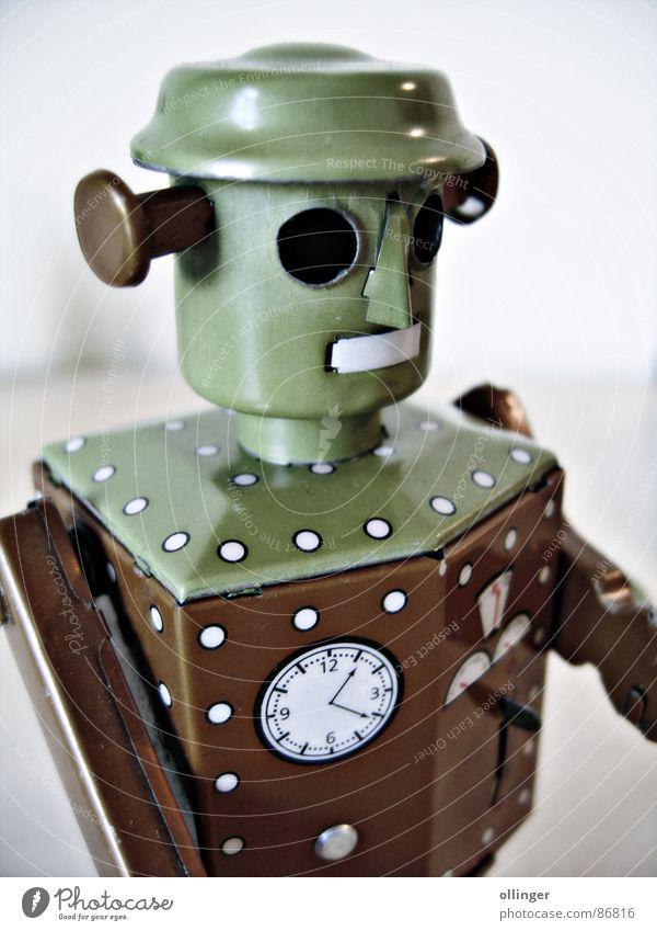 My little Atomic Robot Man Spielen weich Spielzeug Blech Roboter Blechspielzeug